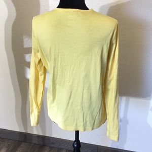 Lands' End Sweaters - 🌵 LANDS END YELLOW BUTTON SWEATER